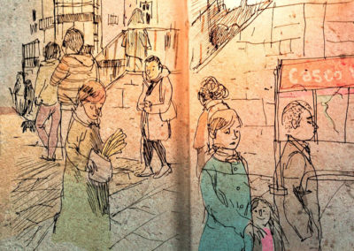 dibujatolrato Plaza Unamuno